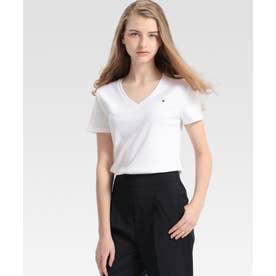 ベーシック Vネック Tシャツ (ホワイト2)
