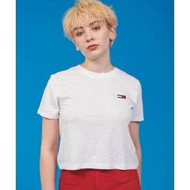 ワンポイント フラッグ ロゴ Tシャツ (ホワイト)