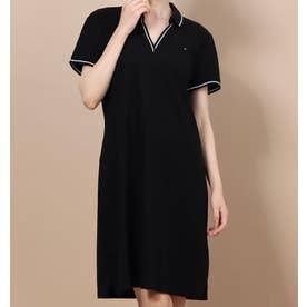 W TORY POLO DRESS TH DEEP BLACK (ブラック)