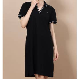 W TORY POLO DRESS TH DEEP BLACK (ブラック)