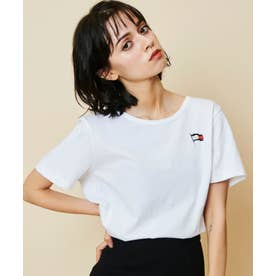レギュラーフィットフラッグTシャツ (ホワイト)