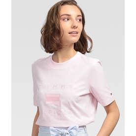 エンブロイダリーロゴTシャツ (ピンク)