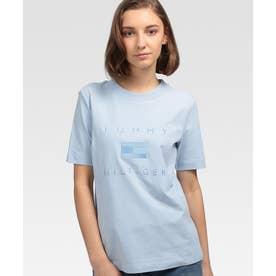 エンブロイダリーロゴTシャツ (ブルー)