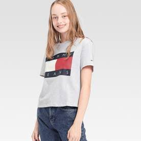 フラッグクロップドTシャツ (グレー)