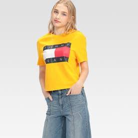 フラッグクロップドTシャツ (イエロー)