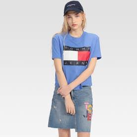 フラッグクロップドTシャツ (ブルー)
