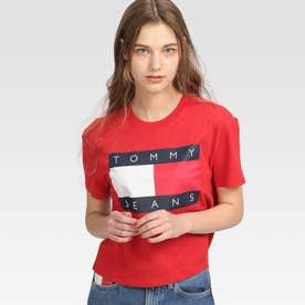 フラッグクロップドTシャツ (レッド)