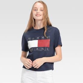 フラッグクロップドTシャツ (ネイビー)