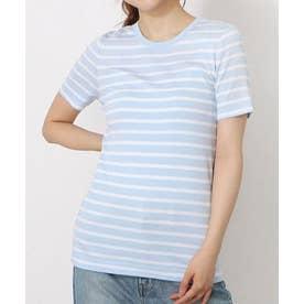 リブニットTシャツ (ライトブルー)