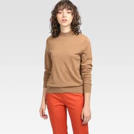 ベーシックモックタートルネックセーター (ブラウン)