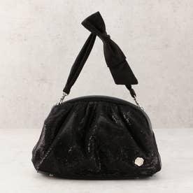 チュールスパンハンドバッグ (ブラック)