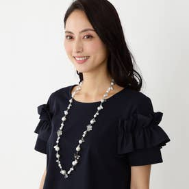 ◆◆メタルフラワー ネックレス (ホワイト)