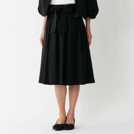 タフタストレッチフレア スカート (ブラック)