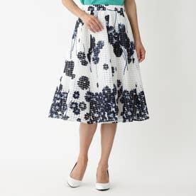 ◆◆フラワーギンガム スカート (ブルー)