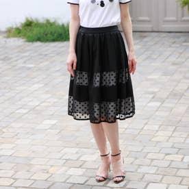 ◆◆ドットオパール スカート (ブラック)