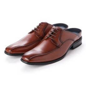 メンズ ビジネスサンダル 紳士靴 クッション性 オフィス スリッポン 防滑 (ブラウン)