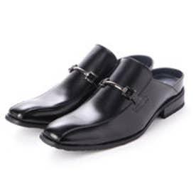 メンズ ビジネスサンダル 紳士靴 クッション性 オフィス スリッポン 防滑 (ブラック)