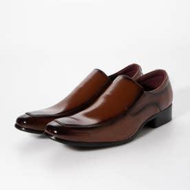 メンズ ビジネスシューズ 紳士靴 ドレスシューズ 防滑 レザー (ブラウン)