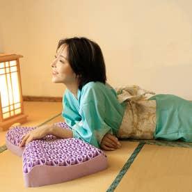 SNS話題 無重力 ジェルピロー 枕 立体構造 柔らかい 通気 寝心地 丸洗い 洗える 体圧分散 寝具 カバー付き (パープル)