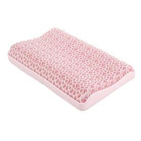 SNS話題 無重力 ジェルピロー 枕 立体構造 柔らかい 通気 寝心地 丸洗い 洗える 体圧分散 寝具 カバー付き (ピンク)