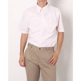 形態安定ノーアイロン ドゥエボットーニボタンダウン 半袖ビジネスワイシャツ (オレンジ)