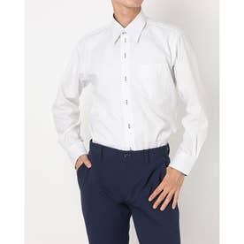 形態安定ノーアイロン レギュラー 長袖ビジネスワイシャツ (ネイビー)