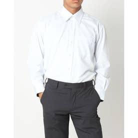 形態安定ノーアイロン レギュラー 長袖ビジネスワイシャツ (ライトブルー)