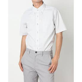 形態安定ノーアイロン ボタンダウン 半袖ビジネスワイシャツ (ライトイエロー)