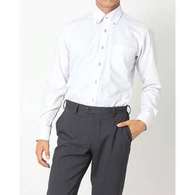 【Disney ディズニー】形態安定ノーアイロン ボタンダウン 長袖ビジネスワイシャツ (ライトグレー)