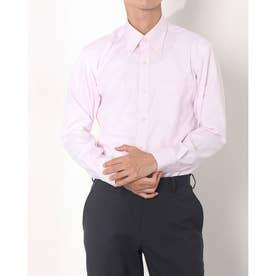 形態安定ノーアイロン ボタンダウン 長袖ビジネスワイシャツ (ライトピンク)
