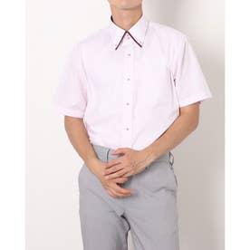 形態安定ノーアイロン マイタードゥエボットーニボタンダウン 半袖ビジネスワイシャツ (ライトピンク)