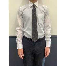 形態安定ノーアイロン レギュラー 長袖ビジネスワイシャツ (ライトパープル)