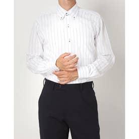 形態安定ノーアイロン ドゥエボットーニ ボタンダウン 長袖ビジネスワイシャツ (ホワイト)