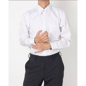 形態安定ノーアイロン スナップダウン 長袖ビジネスワイシャツ (ライトパープル)
