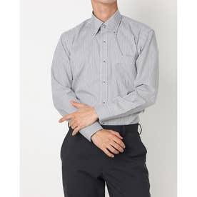 形態安定ノーアイロン ドゥエボットーニボタンダウン 長袖ビジネスワイシャツ (グレー)