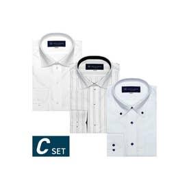 【ネット限定】形態安定ノーアイロン長袖ビジネスワイシャツ 3枚セット (マルチ)