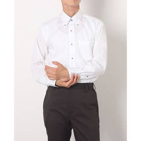 形態安定ノーアイロン  ドゥエボットーニボタンダウン 長袖ビジネスワイシャツ (ブルー)