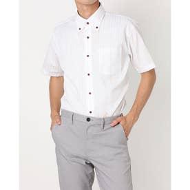 形態安定ノーアイロン ボタンダウン 半袖ビジネスワイシャツ (ライトピンク)
