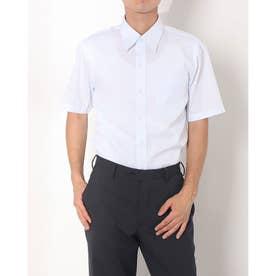 形態安定ノーアイロン レギュラー 半袖ビジネスワイシャツ (サックスブルー)
