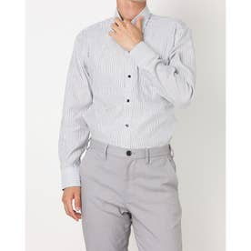 形態安定ノーアイロン ワイド 長袖ビジネスワイシャツ (ネイビー)