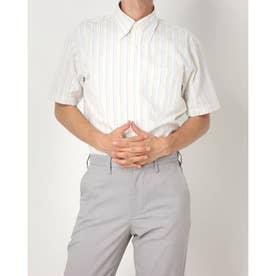 【Disney ディズニー】形態安定ノーアイロン ボタンダウン 半袖ビジネスシャツ (ライトイエロー)