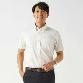 【Disney ディズニー】形態安定ノーアイロン ボタンダウン 半袖ビジネスシャツ (レモンイエロー)