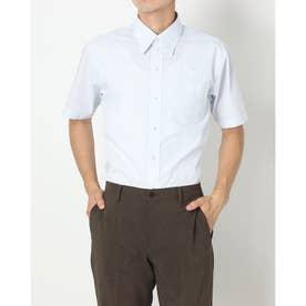 形態安定ノーアイロン レギュラー 半袖ビジネスワイシャツ (ライトブルー)
