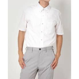 形態安定ノーアイロン ドゥエボットーニ ボタンダウン 半袖ビジネスワイシャツ (ライトパープル)
