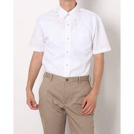 形態安定ノーアイロン ボタンダウン衿 半袖ビジネスワイシャツ (ライトピンク)