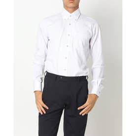 形態安定ノーアイロン  ボタンダウン衿 長袖ビジネスワイシャツ  袖の長い・大きいサイズ (ライトパープル)