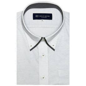 形態安定ノーアイロン 半袖 ビズポロ ニットシャツ マイターボタンダウン 3L・4L (ライトグレー)