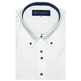 形態安定ノーアイロン 半袖ワイシャツ ボタンダウン 3L・4L (ライトブルー)