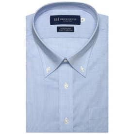 形態安定ノーアイロン 半袖ワイシャツ ボタンダウン 3L・4L (ブルー)