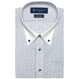 形態安定ノーアイロン 半袖ワイシャツ クレリック ボタンダウン 3L・4L (サックスブルー)